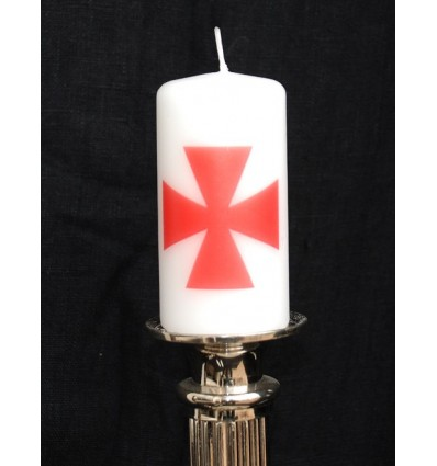 Masonic templar candle light w. cross