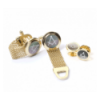 Masonic Onyx Cufflinks & Dress Shirt Studs