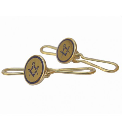 Dress shirt studs gold square & compass