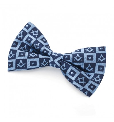 Masonic Forget me Not Design Silk Bowtie