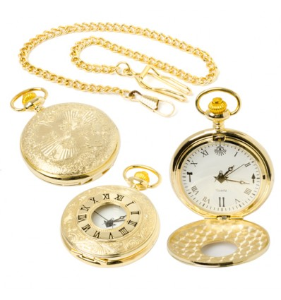 Masonic Quartz half Hunter Pocket Watch