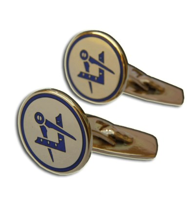 Masonic cufflinks gold square and compass