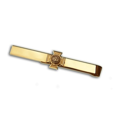 Masonic Tie Clip 14k with Knights Templar cross