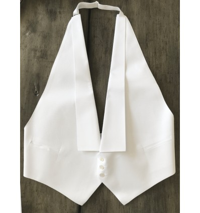 White vest for white tie and tails.