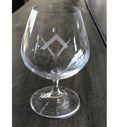 Masonic Cognac Glass