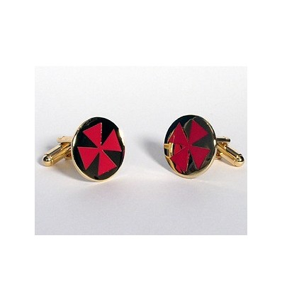 Masonic cufflinks w. cross