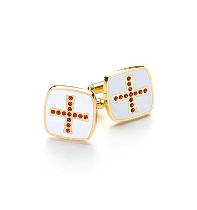 Knights Templar Masonic Cufflinks with Swarvorski Stones